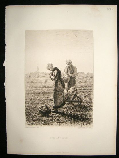 A.P.Martial  1884 etching after Millet. 'The Angelus'. Art Journal | Albion Prints